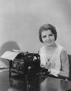 lady typing